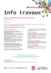 Ligne D Bordeaux - Place Tourny - Planning travaux et plans de circulation 05-2019